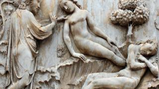 Creacion-de-Eva-bajorrelieve-de-Lorenzo-Maitani-1275-1330-en-la-catedral-de-Orvieto